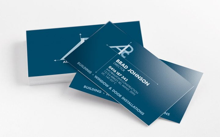 Print Design – All Point Construction Business Cards