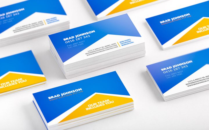 Print Design – Brad Johnson Constructions Business Cards