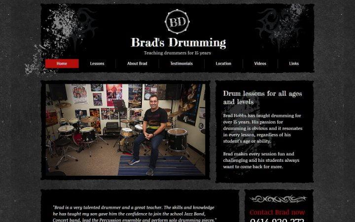 Website Design Help – Brads Drumming