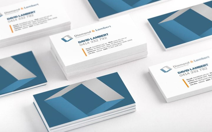 Print Design – Diamond & Lambert Contractors Business Cards