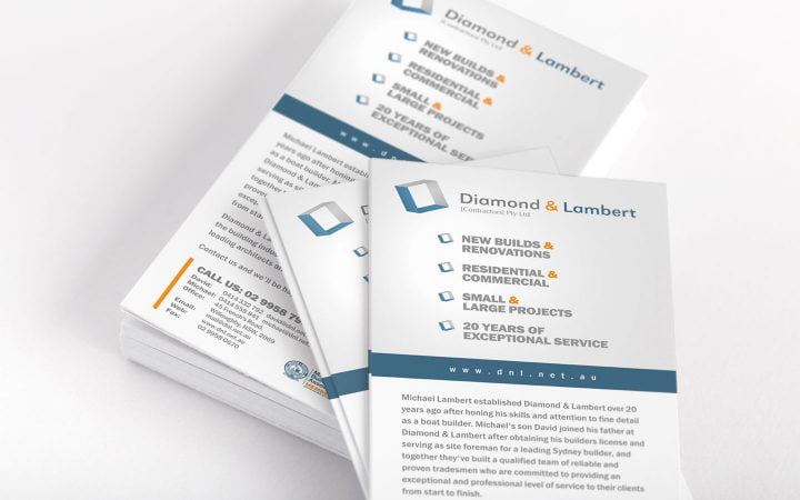 Print Design – Diamond & Lambert Contractors Flyers