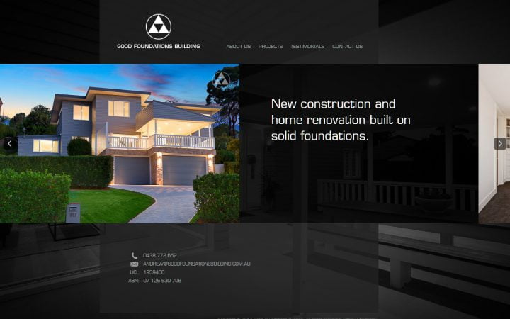 New Website Design – Good Foundations Building