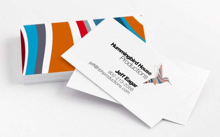 Print Design – Hummingbird House Productions Business Cards