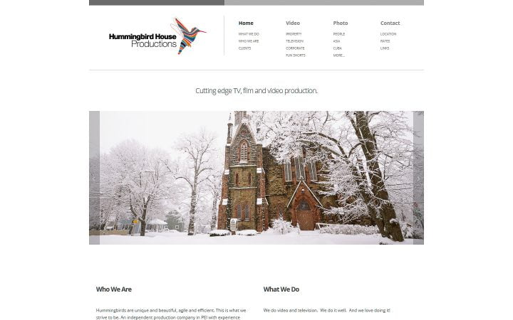New Website Design – Hummingbird House Productions