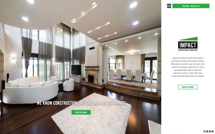 New Website Design – Impact Renovation & Construction