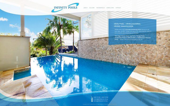 New Website Design – Infinity Pools
