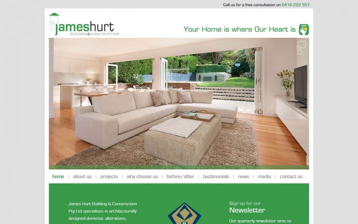 Website Redesign – James Hurt Building & Construction
