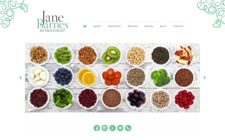 New Website Design – Jane Barnes Nutritionist