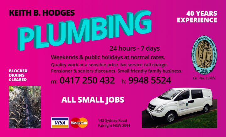New Website Design – Keith B Hodges Plumbing
