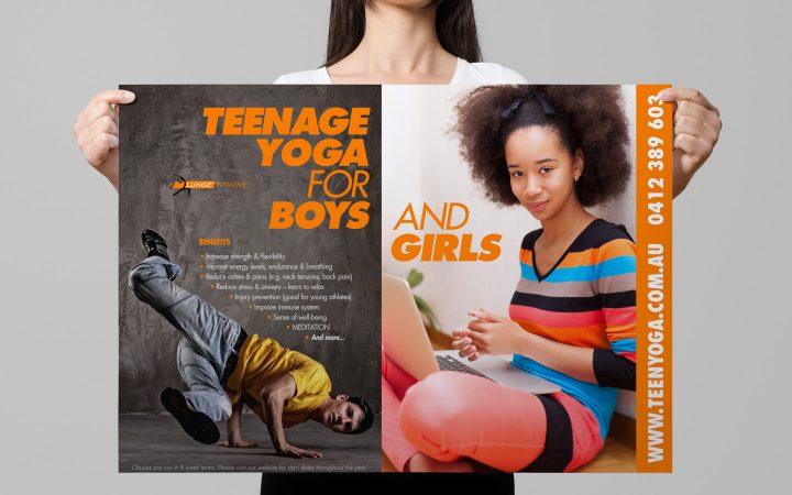 Print Design – Lunge Teenage Yoga Poster