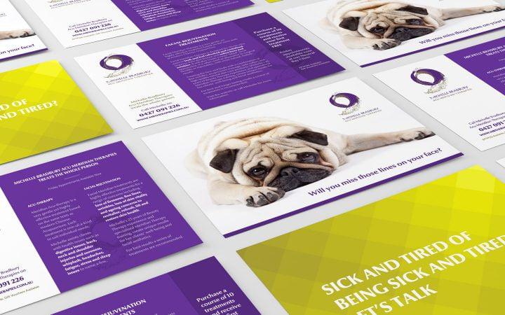 Print Design – MB Therapies Postcards