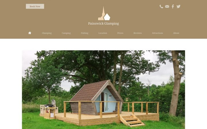 Website Redesign – Painswick Glamping