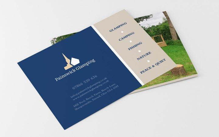 Print Design – Painswick Glamping Postcard