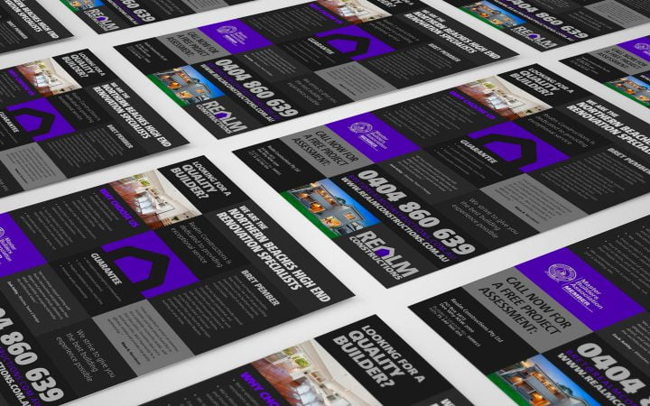Print Design – Realm Constructions Flyer