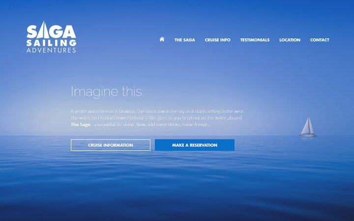New Website Design – Saga Sailing Adventures