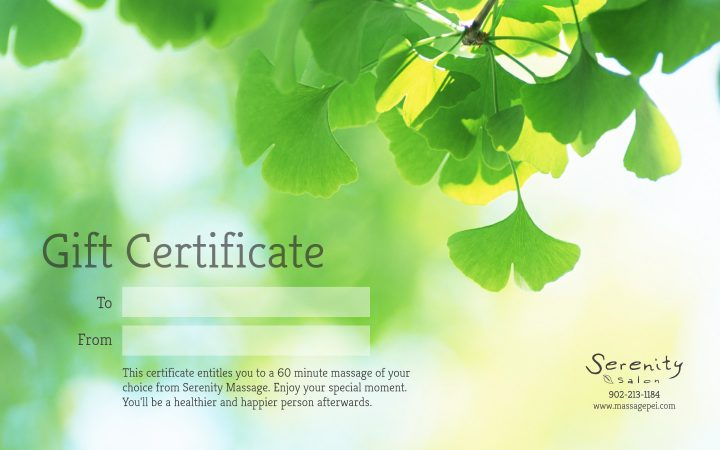 Print Design – Serenity Salon Gift Certificates
