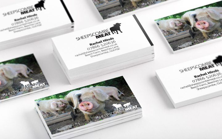 Print Design – Sheepscombe Meat Business Cards