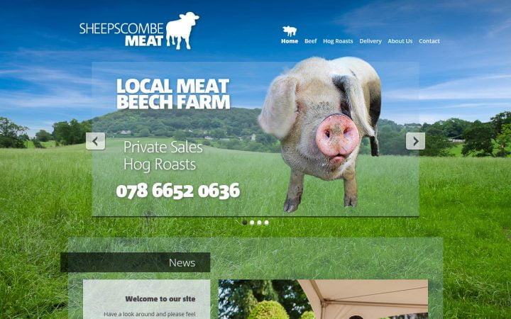 New Website Design – Sheepscombe Meat