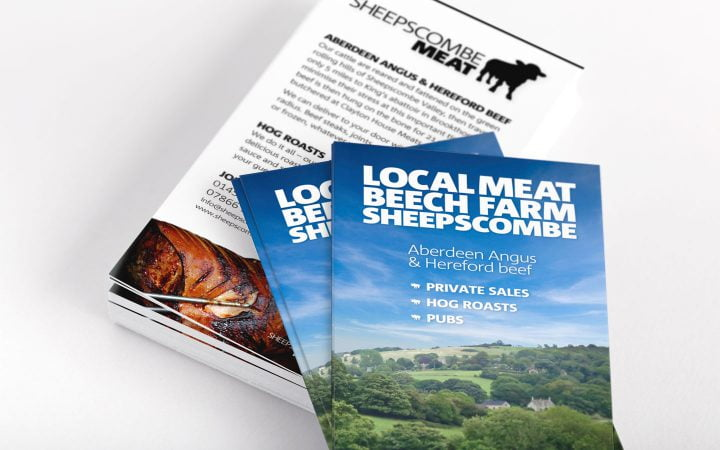 Print Design – Sheepscombe Meat Rack Cards
