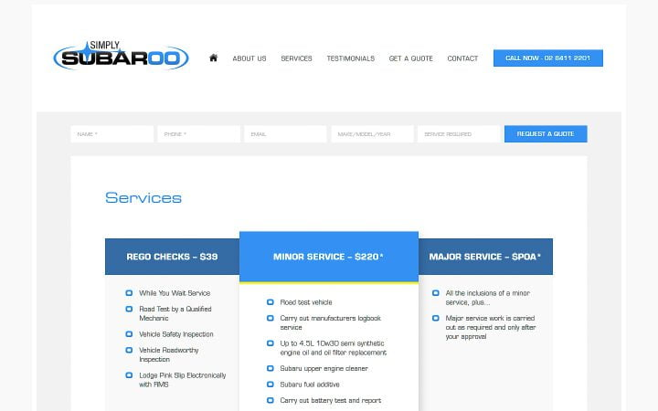 Website Redesign – Simply Subaroo