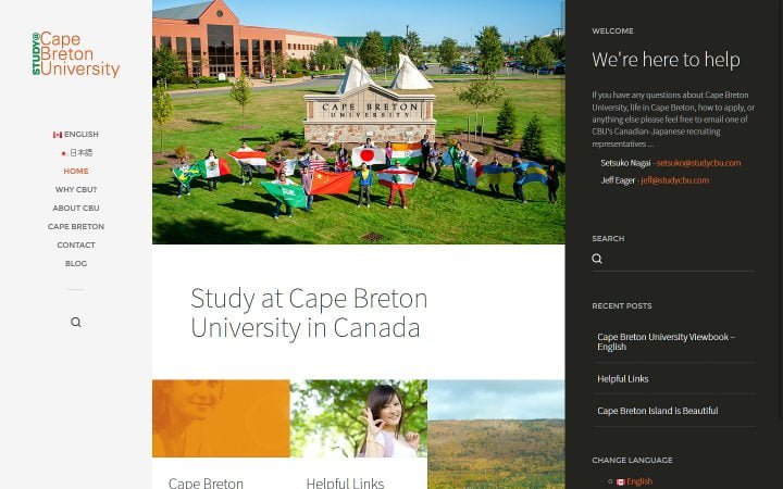 New Website Design – Study CBU