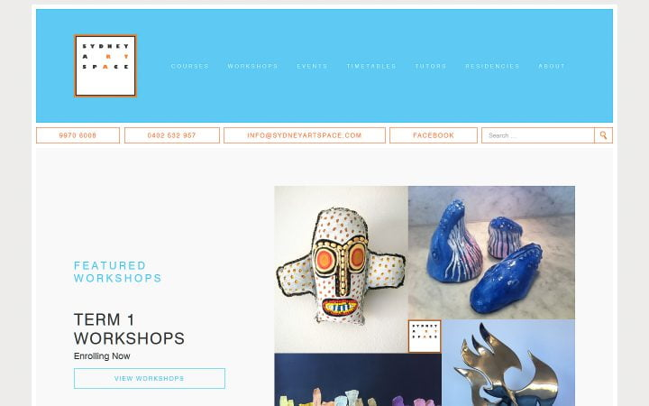 New Website Design – Sydney Art Space