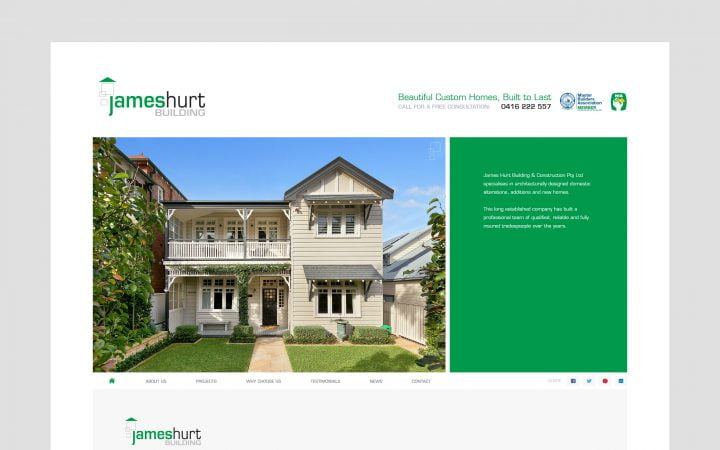 Website Redesign – James Hurt Building