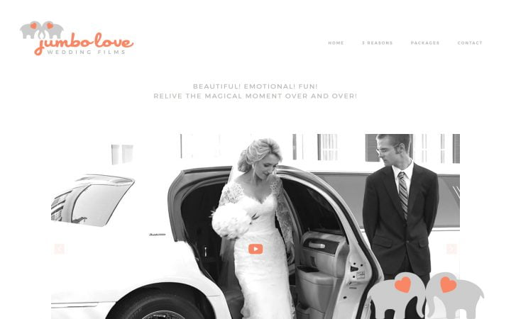 New Website Design – Jumbo Love Wedding Films