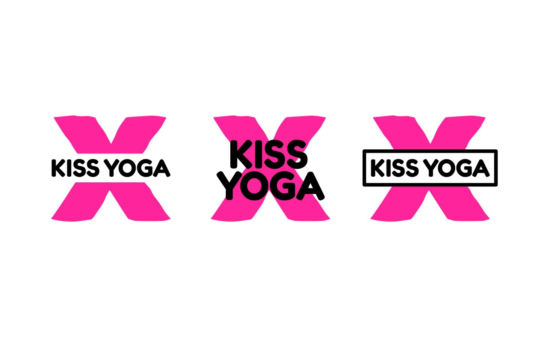 Kiss Yoga Alternate Logos - 2019
