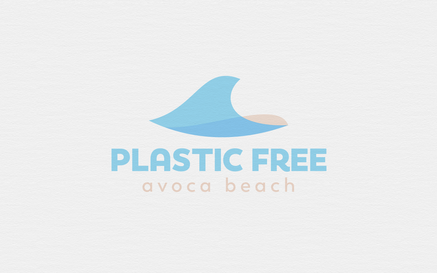 Plastic Free Avoca Beach Logo on Paper - 2020
