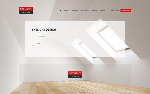 Skylight Business Website Theme 2018