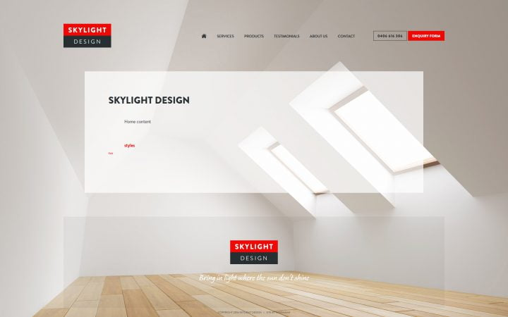 Website Theme for Skylight Business