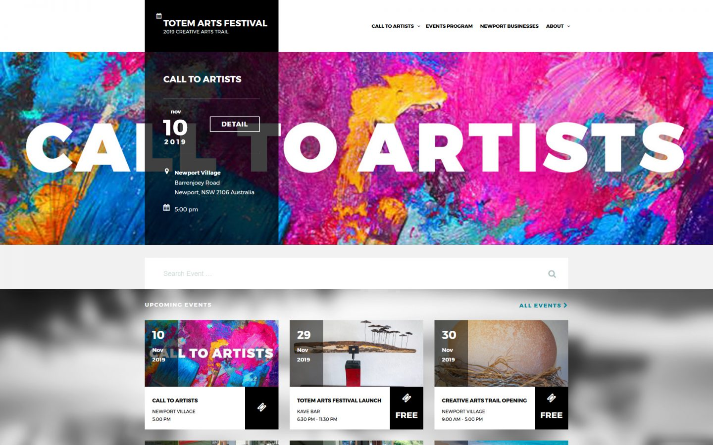 Totem Arts Festival Website - 2019