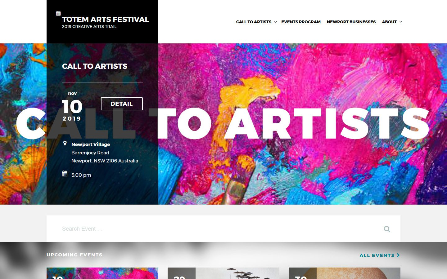 Totem Arts Festival Website - 2019
